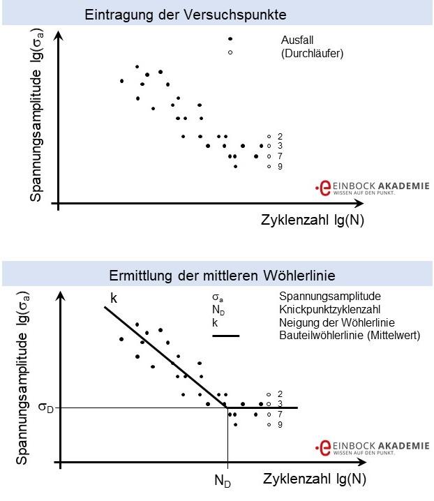 Auswertung von Wöhlerlinien