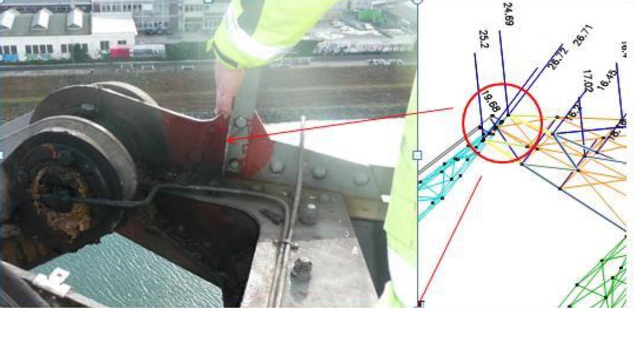 Detail des untersuchten Bauteiles