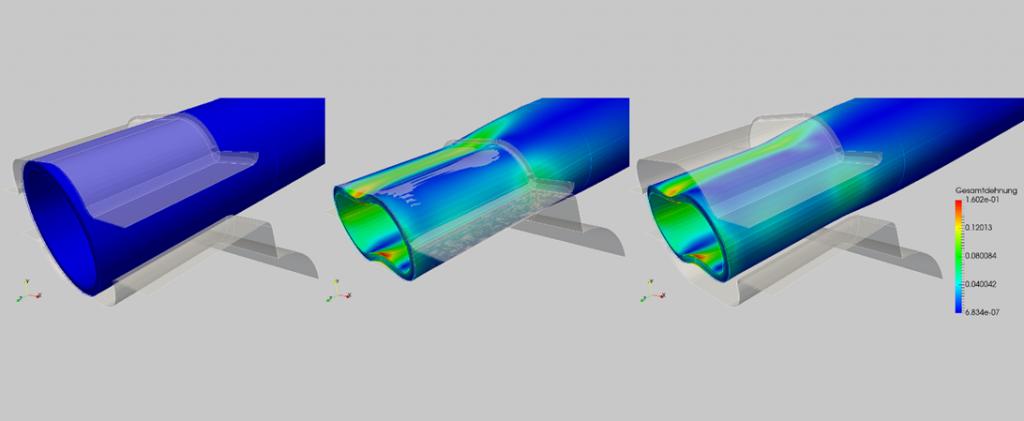 Ein Beispiel einer nichtlinearen FEM-Analyse mit der FEM Software Salome-Meca
