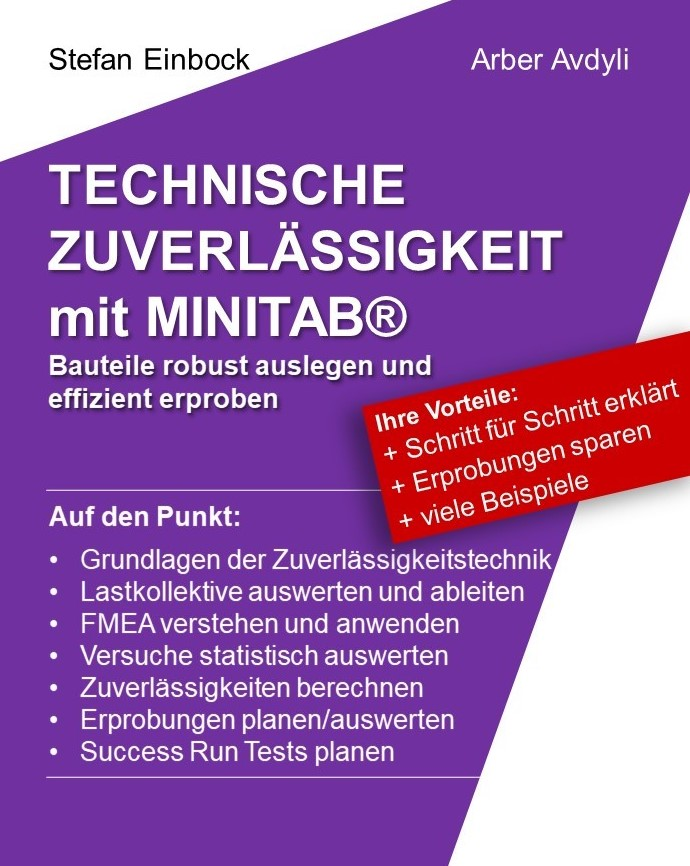 Buch zur technischen Zuverlässigkeit mit Minitab - Bauteile robust auslegen und effizient erproben