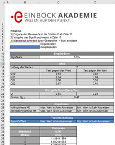 Der Dean Dixon Ausreisser Test als Excel Tool