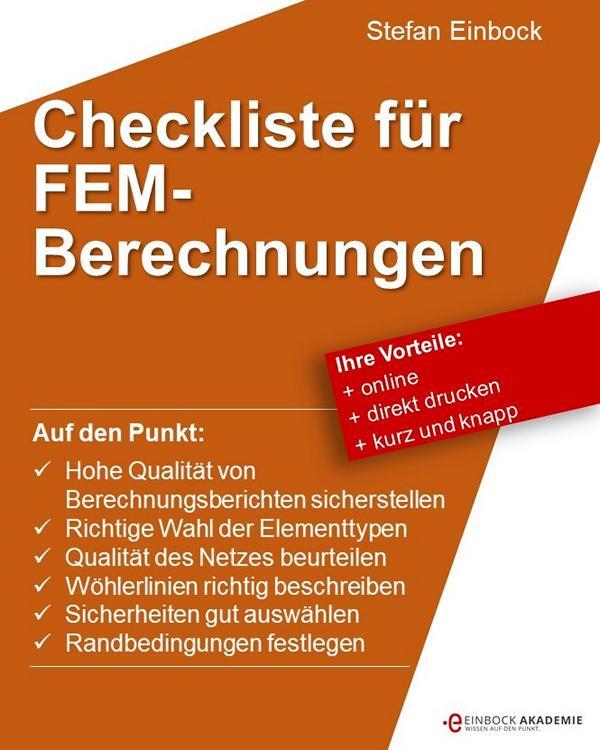 Checkliste zur Bewertung von FEM Berechnungen und Berechnungsberichten