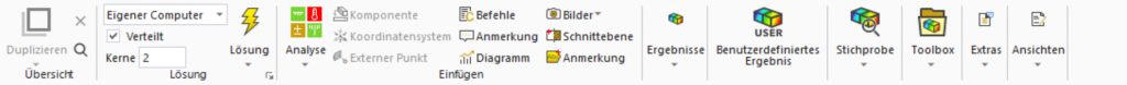 Auswahl des Betriebsfestigkeits-Tools in der Menüleiste von Ansys
